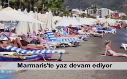 MARMARİS'TE YAZ DEVAM EDİYOR